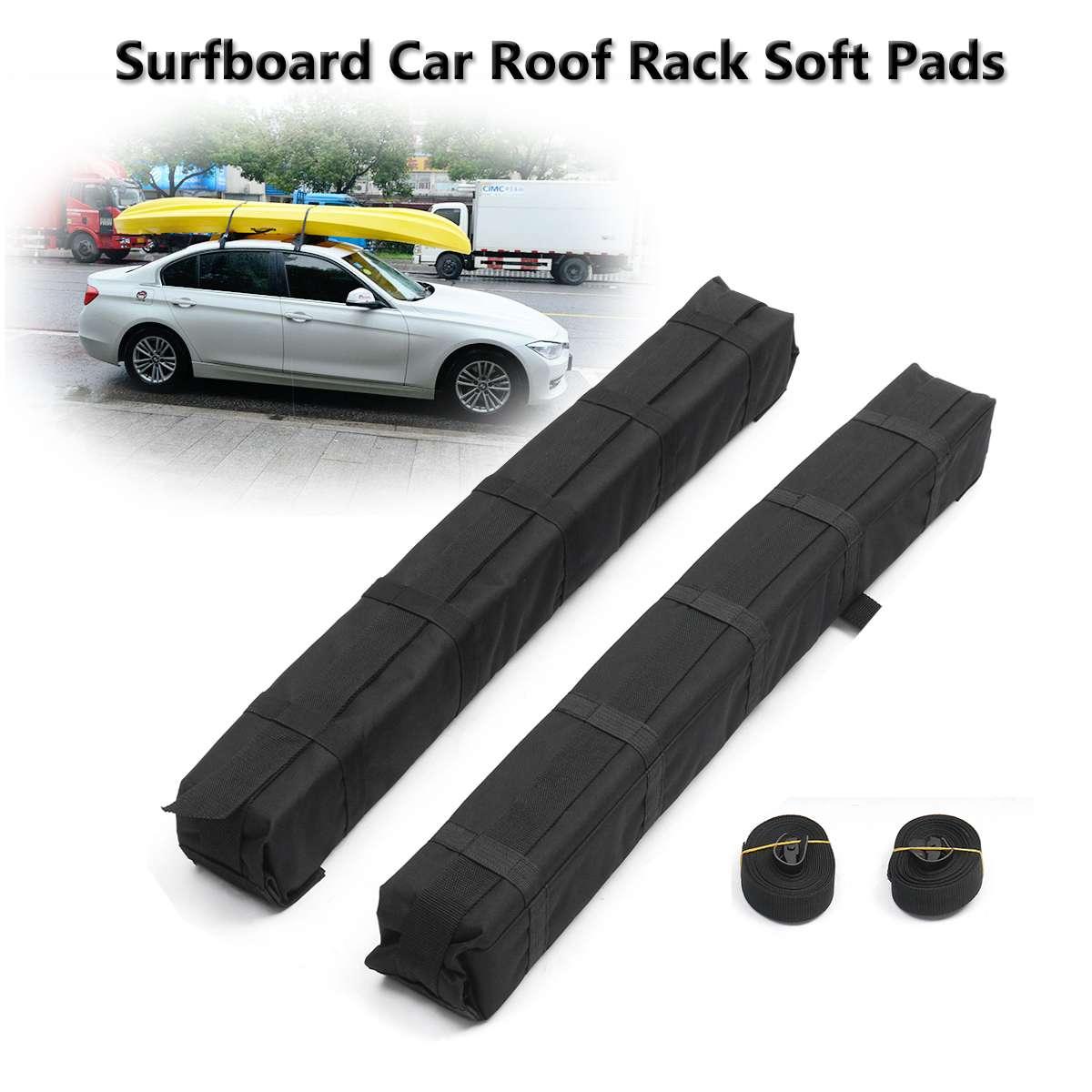 2 pièces universel Auto doux voiture toit Rack Cross Bar Kayaks planche de surf voiture toit Rack EVA doux tampons extérieur voyage bagages transporteur barre
