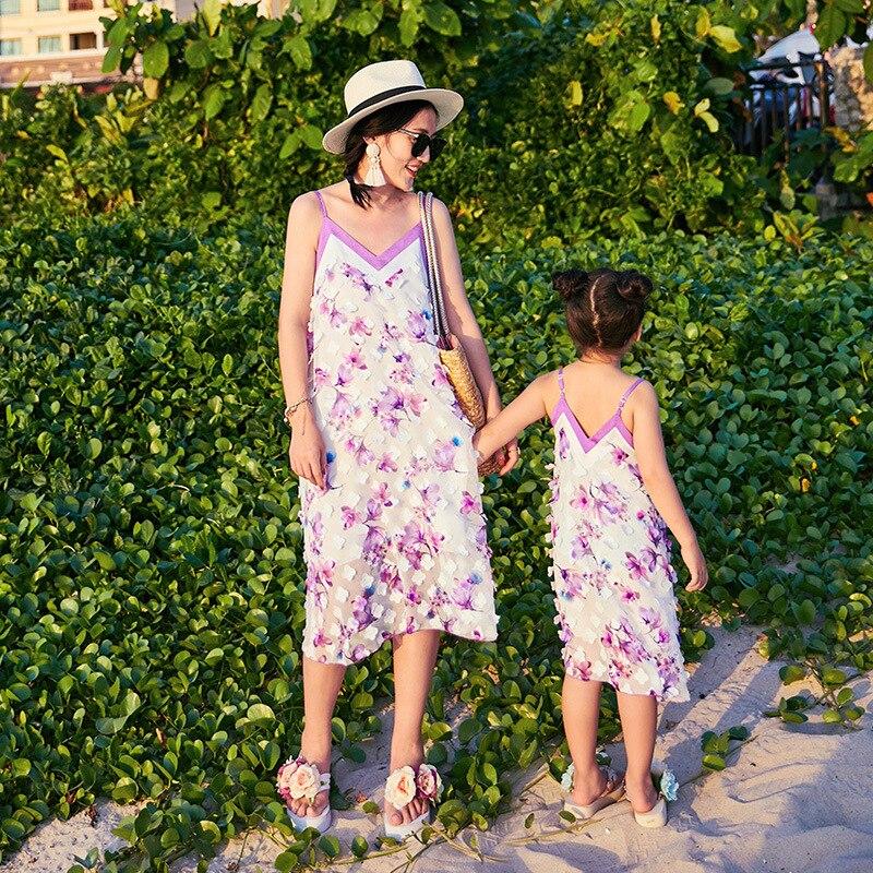 Famille look mère fille robes bébé fille vêtements robe famille correspondant vêtements belle robe florale correspondant tenues