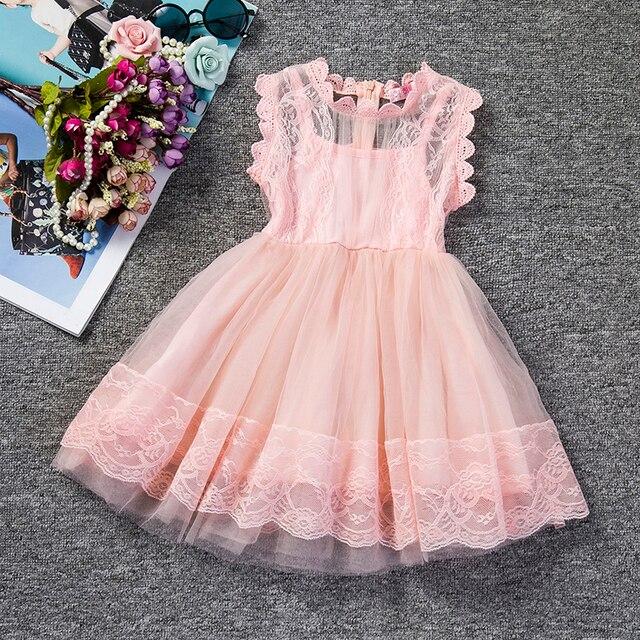 59be0d22 US $6.53 12% OFF Ubrania dla dzieci dziewczyna lato Tulle koronki sukienka  dla ubranie na przyjęcie dla dziewczynek w wieku 3 8 lat urodziny strój ...