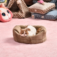 High Quality Pet Kennel 4 Colors Soft Outward Good Shape Dog Bed Cat Puppy Kennel Small Medium Dog Bed Luxury