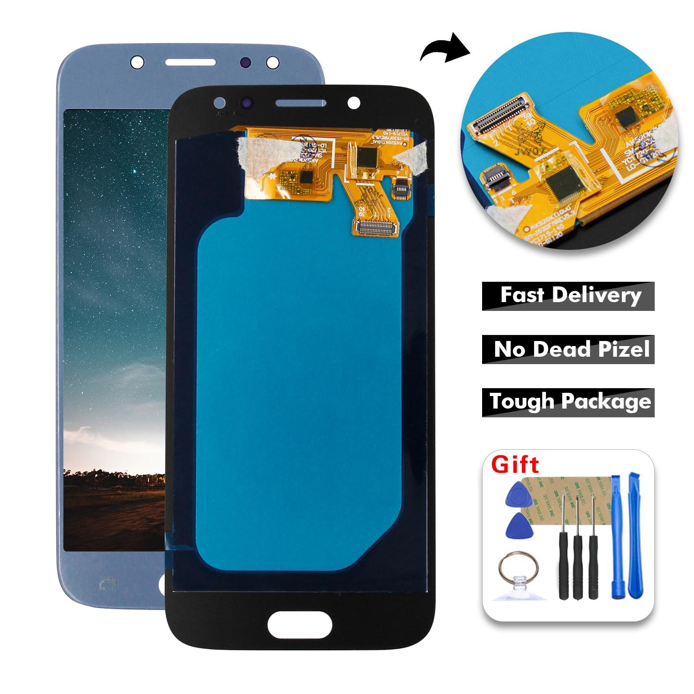 Qualité AAA pour Samsung Galaxy J5 bleu 2017 Amoled LCD J530 J530M SM-J530F écran Lcd écran tactile numériseur assemblée + outils