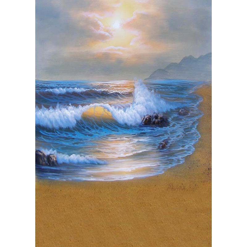 Personnaliser lavable rides livraison sirène mer plage photographie décors pour enfants bébé photo studio portrait milieux S-1255