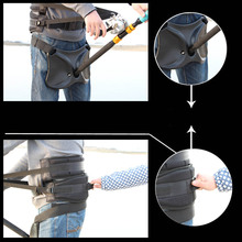Fishing Belt Rod Holder + Fishing Harness Rock Waist Gimbal Fighting Belt Fishing Rod Pole Stand Saltwater Fishing Tackle