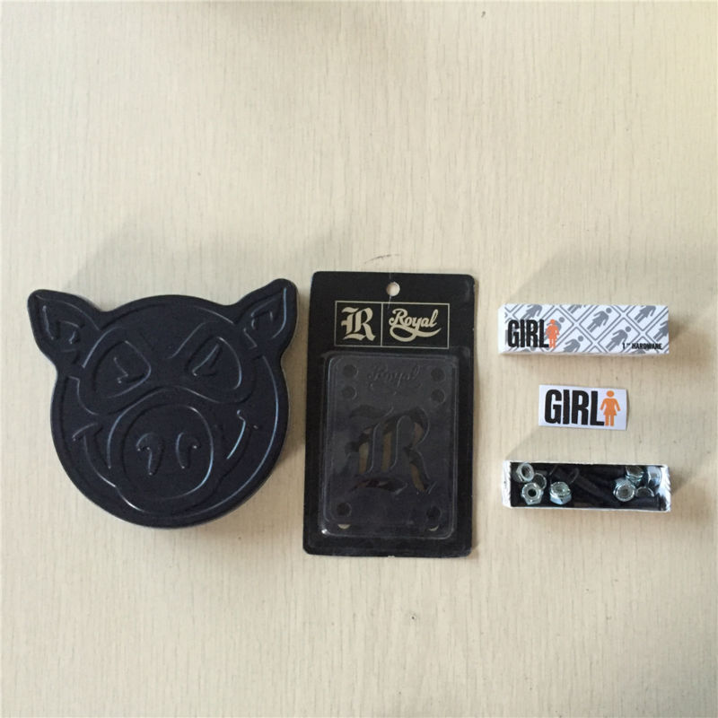 PIG Skateboarding Parts And Bearing ABEC-3 And Black Ops With Element ZERO Royal Riser Pad And Diamond Or Girl 1