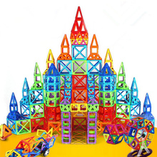 6-228pcs Blocks Magnetic Designer Construction Set Model & Building Toy Plastic Magnetic Blocks Educational Toys For Kids Gift стоимость