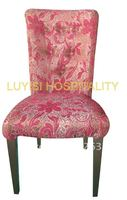 Upholstery Matel Dining Chair Heavy Duty Fabric With High Rub Resistance Comfortable Seat