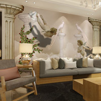 Custom Photo Wallpaper 3D Wall Murals European Style Little Angel Of Heaven For Living Room Background
