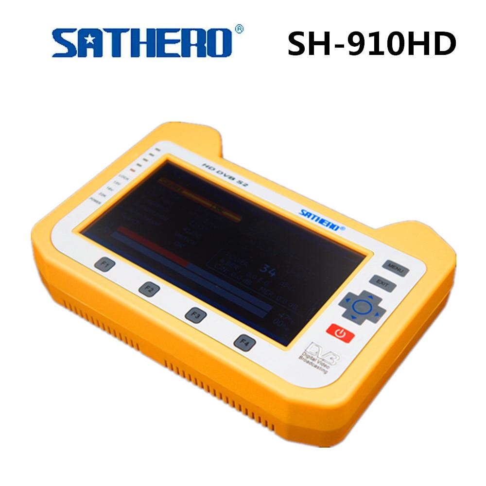Sathero SH 910HD Satellite TV Receiver DVB S/S2 Digital Satellite Meter Real time Spectrum analyzer Signal Finder Satellite-in Satellite TV Receiver from Consumer Electronics    1