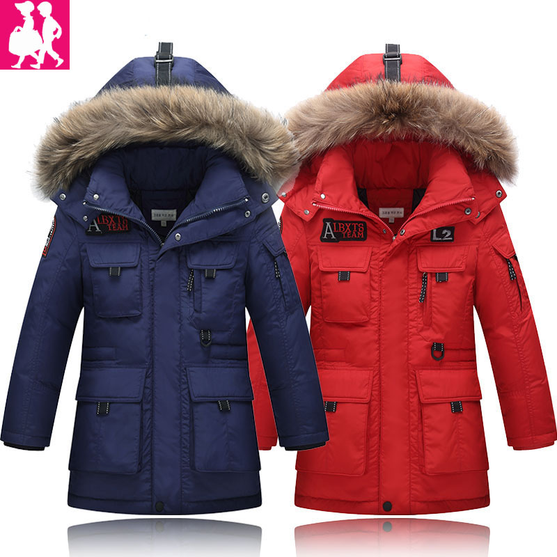 2018 Boys Jackets Parka Baby Outerwear childen winter jackets for Boys down Jackets Coats warm Kids baby thick cotton down 2017 boys parka childen winter jackets for girls down jacket for girl hooded warm coat kids thick cotton down jacket cold winter