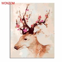 Lovely Little Deer Picture On Wall Acrylic Painting By Numbers Abstract Unique Gift Coloring Oil Paintings