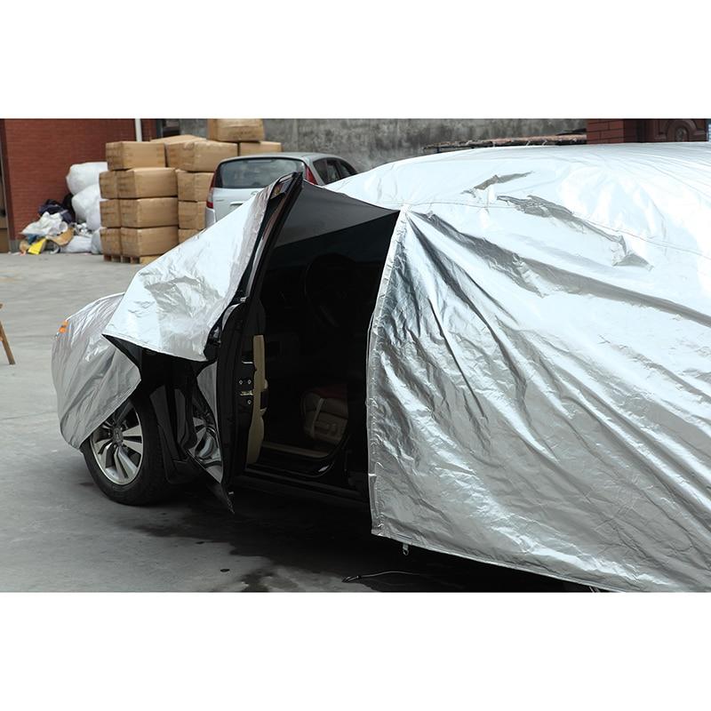 Kayme bâches de voiture imperméables couverture de protection solaire extérieure pour voiture pour ford mondeo focus 2 3 fiesta kuga ecosport explorer ranger - 5