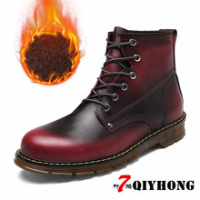 QIYHONG Brand 2018 New Fashion Retro Ankle Leather boots Autumn MenS Motorcycle Boots Men Oxfords Shoes Plus