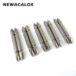 NEWACALOX 1/4 inch PH2 Electric Screwdriver Bit Set Bits Hex Shank Magnetic Alloy Steel for Cross Head 60mm 10pcs Hand Tool