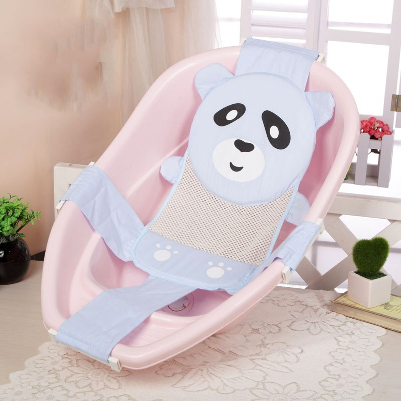 Cartoon Panda Adjustable Newborn Baby Bath Chair Seat Non Slip Net ...