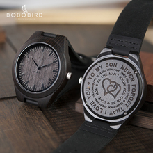 Wood Engraving Men Watch Family Gifts Personalized