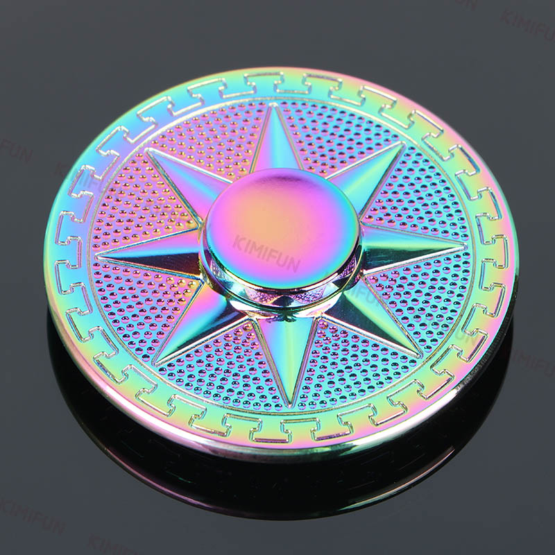 Colorful Round Star Tri-spinner Kid Gift Security Hand Spinner For Autism ADHD Reduce Stress Spinner Fidget Metal Long Time
