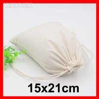 "(100pcs/lot) size 15x21cm(6x8.4"") personlized custom logo gift bag cotton"