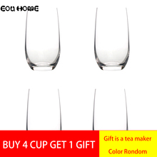 1/2/4 Pcs Transparent Red Wine Glasses Round Household Water Mousse Juice Mug Drink Cup Glass Beer Fruit Party Milk Drinkware