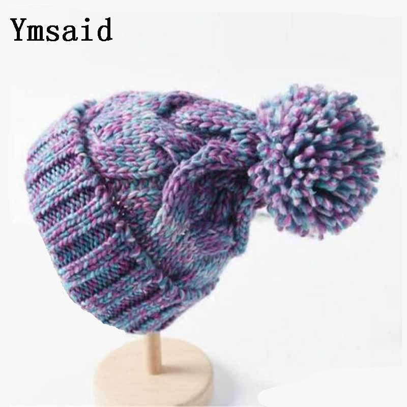 Ymsaid Winter Women Hat Winter Hats For Women Ladies Girls Caps Balaclava Pompom Bonnet Warm Skullies Beanies Hat
