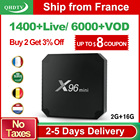 X96 Mini IPTV France Arabic TV Receivers Android 7.1 2GB 16GB Media Player QHDTV Belgium Netherlands France Arabic IPTV 1 Year