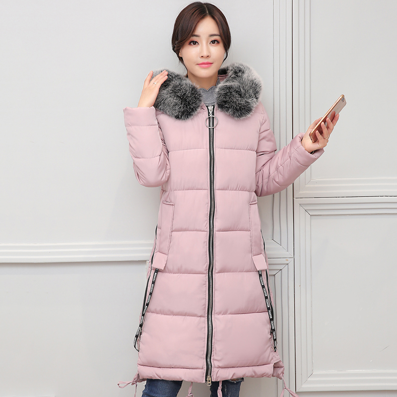 Fur Collar Hooded Women Winter Jacket Long Warm Thicken Cotton Padded Female Coat Parka Outwear Long Parka 2018 High Quality winter thicker large fur collar hooded cotton jacket women warmer padded parka high quality wadded ukraine coat chaqueta mujer