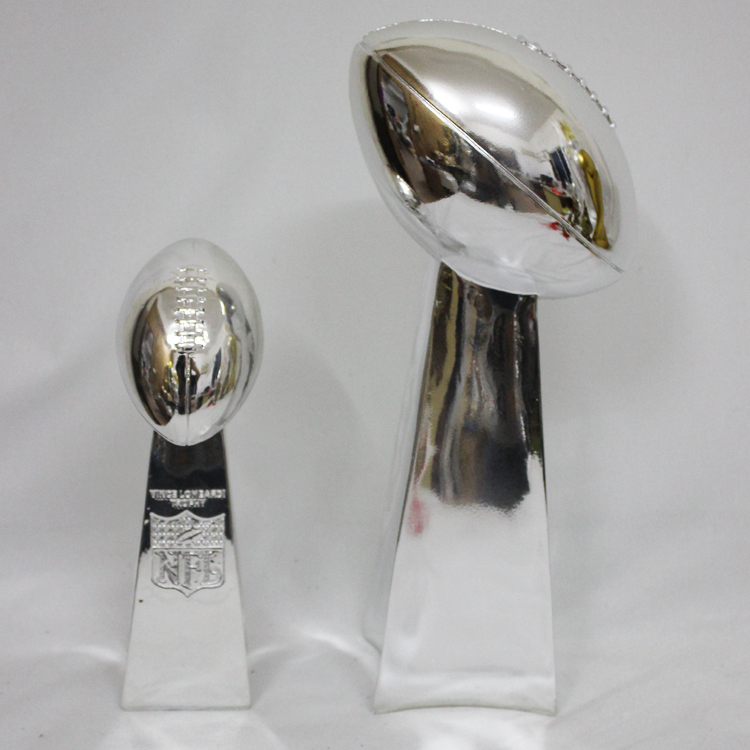 Free Shipping 1:1 Full Size 52CM Vince Lombardi Trophy Super Bowl Trophy 20.5 Inches High Weight 7 Pounds trophy