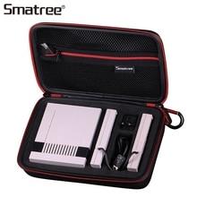 ФОТО smatree carrying case handbag waterproof for nintend nes classic edition, anti-drop black storage bag carry box
