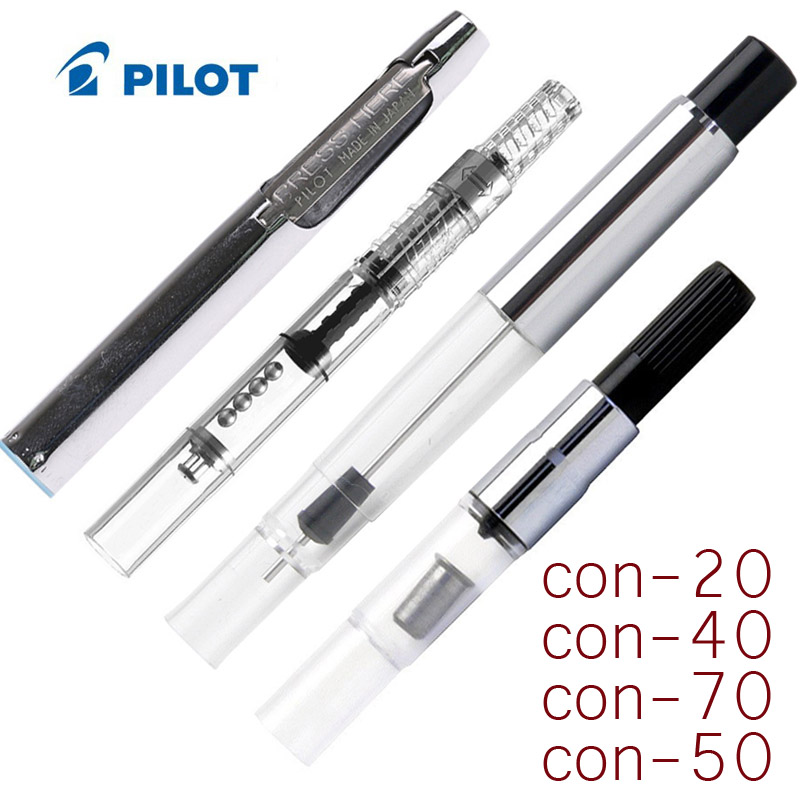Pilot Fountain Pen CON-50/Con-20 Con 50 Con 20 40 70 Ink Converter Press Inking Device 50R 78G 88G Smile Pen Writing Accessory