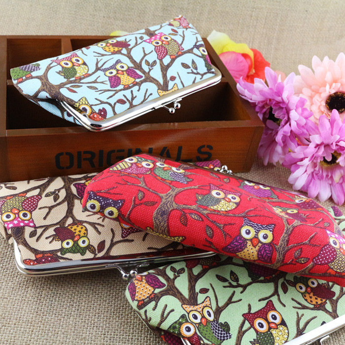 Excellent Quality New Top Brand font b Womens b font Lovely Style Lady Wallets Hasp Owl