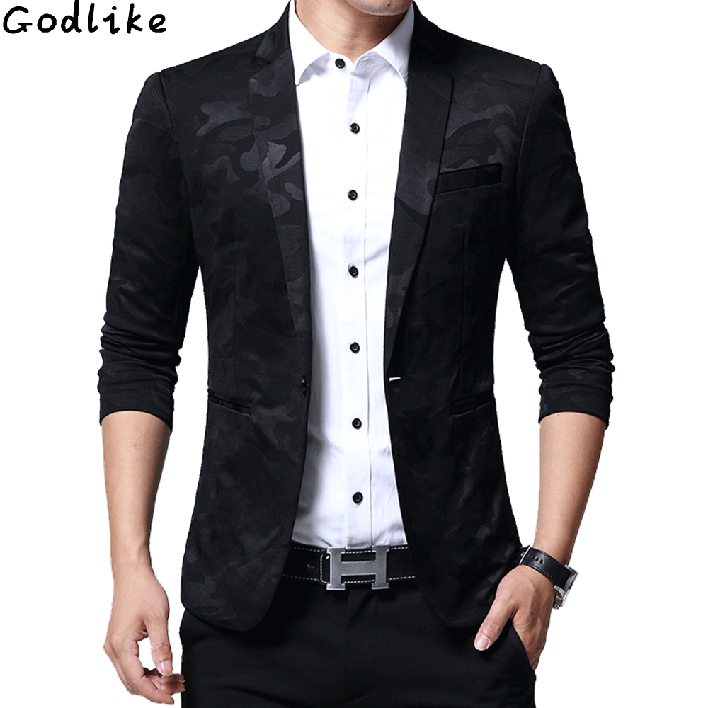2018 New Spring Autumn Fashion Casual Camouflage Blazer Suit Men Top Quality Slim Fit Suit Jacket Male Clothing Plus size M 5XL