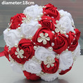 New Arrival Best Selling Silver Brooch Flower Artificial Flowers Wedding Bouquet Crystal Pearls Bridal Bouquets