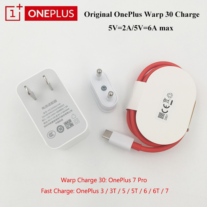 Oneplus Usb-Cable Us-Charger Warp 30-Power-Adapter Type-C Original MAX 30W For 7-Pro