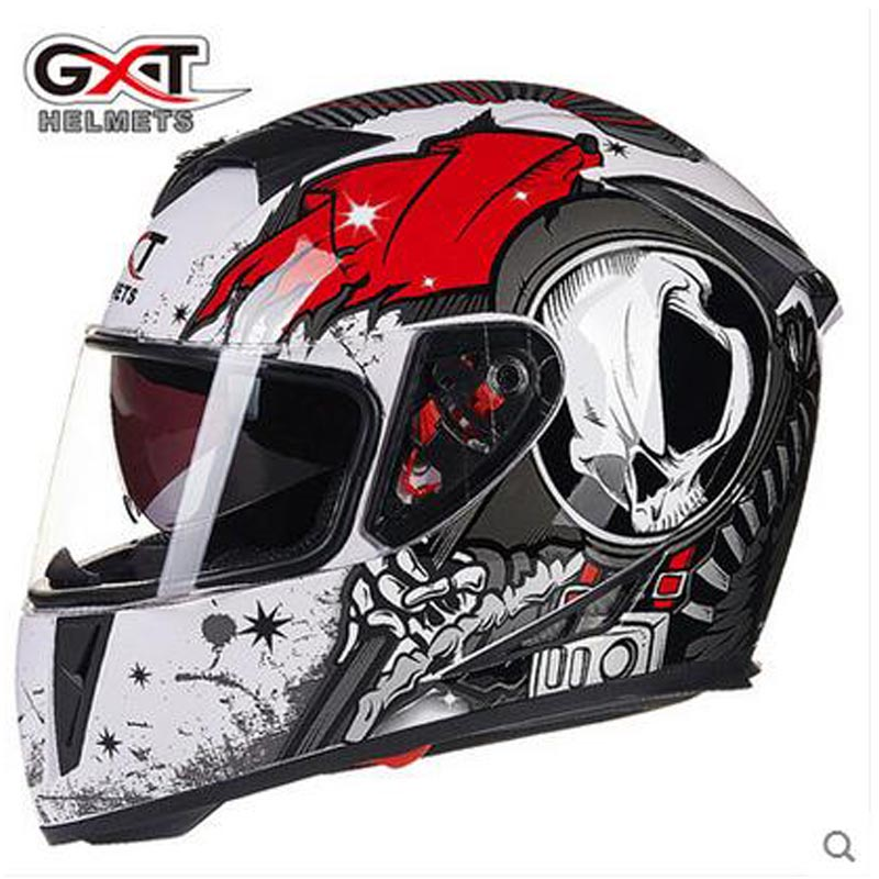 Hot sale Motorcycle Helmet Modular Moto Helmet With Inner Sun Visor Safety Double Lens Racing Full Face Helmets