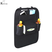 RUPUTIN Felt Covers Back Seat Pockets Car Backrest Storage Bags Car Seat Styling Automobile Seat Hanging Bag Sundries Organizer car styling automobiles car covers funda asientos para automovil protector cushion cubre coche auto accessories car seat covers