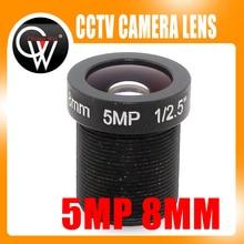 5.0Megapixel HD 8mm CCTV Lens For Security IP Camera F2.0 M12 Mount Fixed Iris Format 1/2.5″