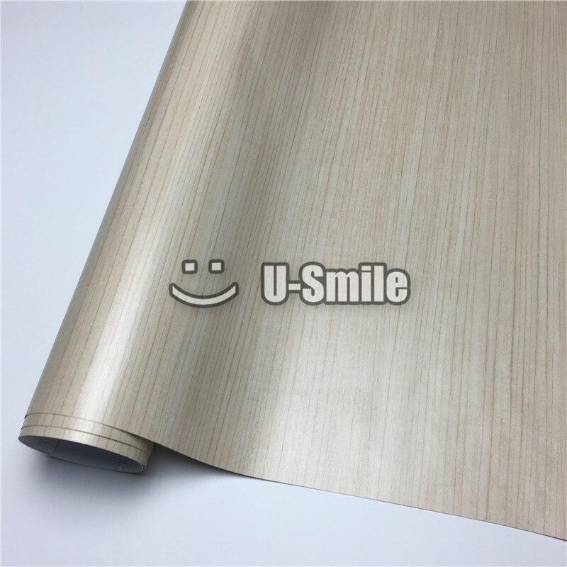 Rouleau de vinyle de Grain de bois de voiture de teck envelopper le vinyle adhésif en bois de PVC taille: 1.24X50 m/rouleau (4ftX165ft)
