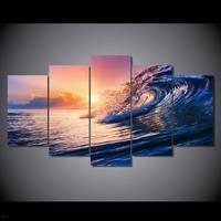 Hdプリントオーシャン波ブルー海スカイ絵画キャンバスプリントルームの装飾プリントポスター画像キャンバス