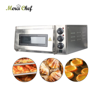 ITOP 110V Stainless Steel Electric Pizza Oven Cake Roasted chicken Pizza Cooker Commercial use Kitchen Baking Machine Processor
