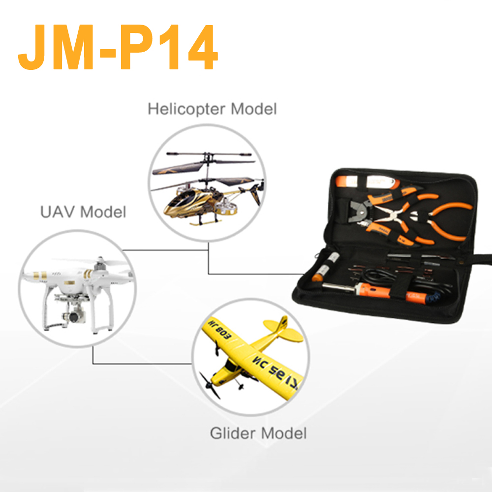 JAKEMY JM-P14 Repair Opening Tools Set For Helicopter UAV Glider Model Electric Soldering Iron Screwdriver Wire Stripper Pliers