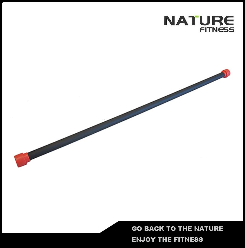 2kg Red Gym Aerobic Bar / Weighted Body Bar For Strength Training