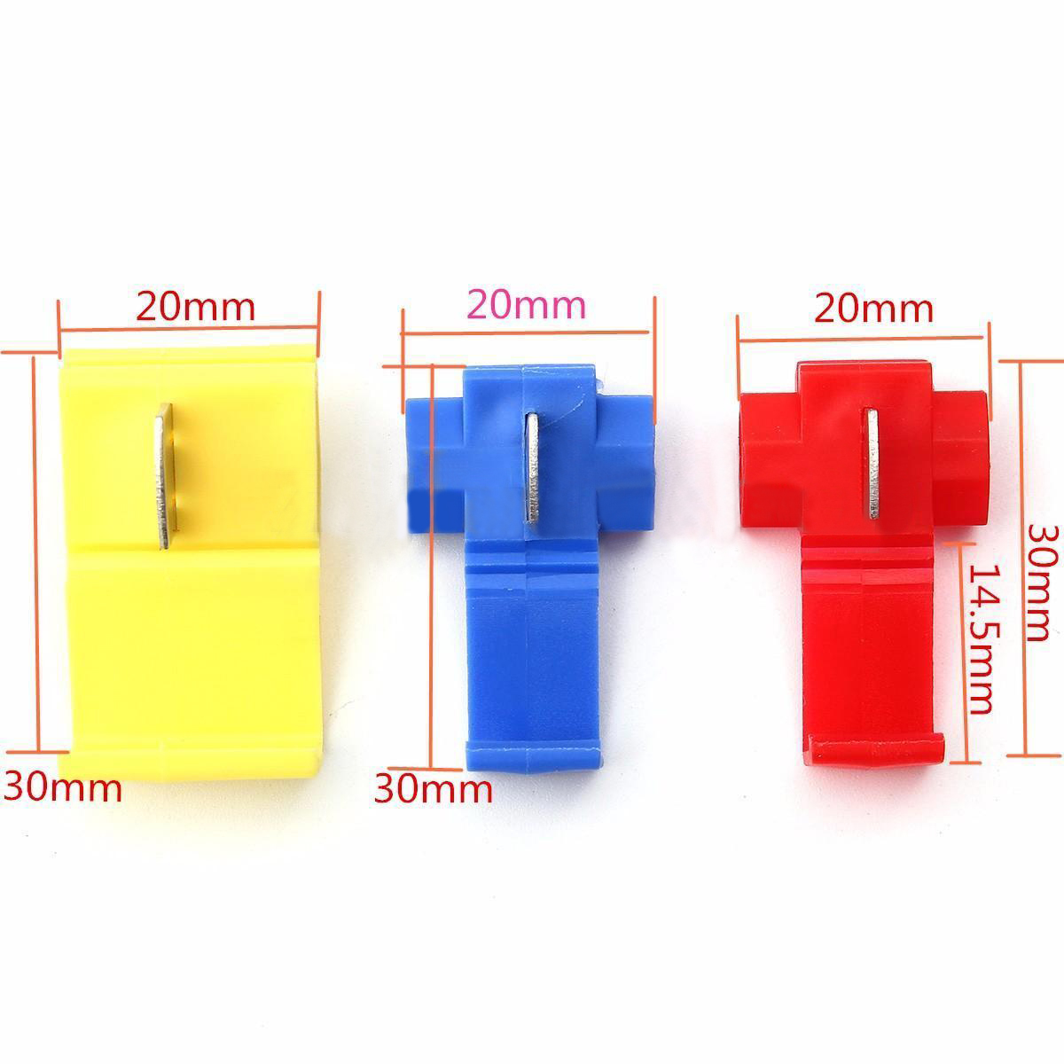 125pcs New Scotch Lock Quick Splice Tap Wire Connectors Terminals 12-10 16-14 22-18 AWG Red Yellow Blue Mayitr 25pcs scotch lock quick splice 12 10 awg wire connector yb