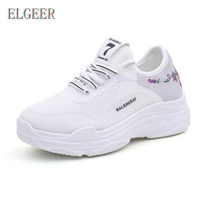 ELGEER hot Womens Sneakers Platform shoes2018 spring new wild fashion casual mesh womens shoes