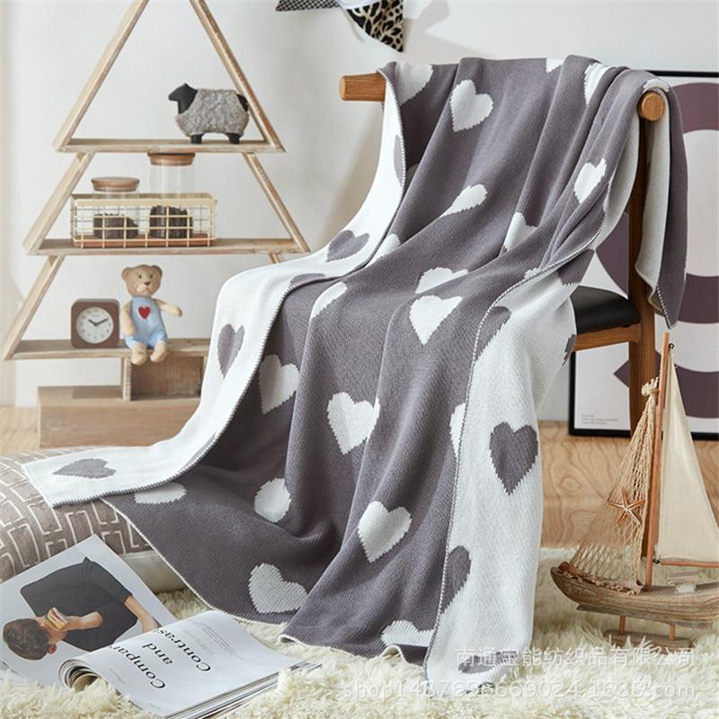 Doux couverture pour Lit Confortable Voyage Plaids Casual vacances Relax Chaud couvertures D'hiver Tricoté Couverture 90*110 cm imprimé lit produit