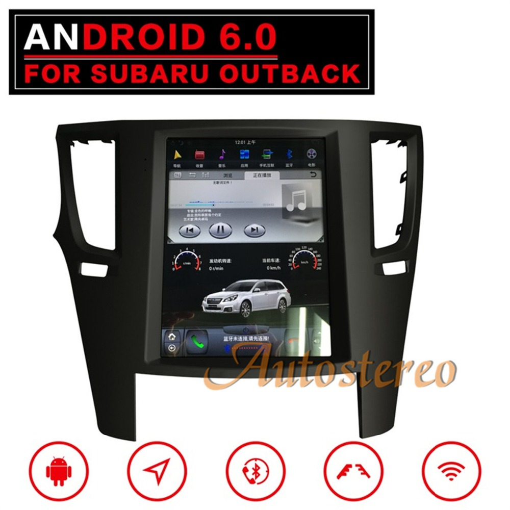 Pure Newest Android6 Tesla style Car No DVD Player For Subaru Legacy Outback 2009-2014 GPS navigation multimedia recorder stereo цена