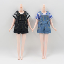 Neo Blythe Doll Denim Overalls With Shirt