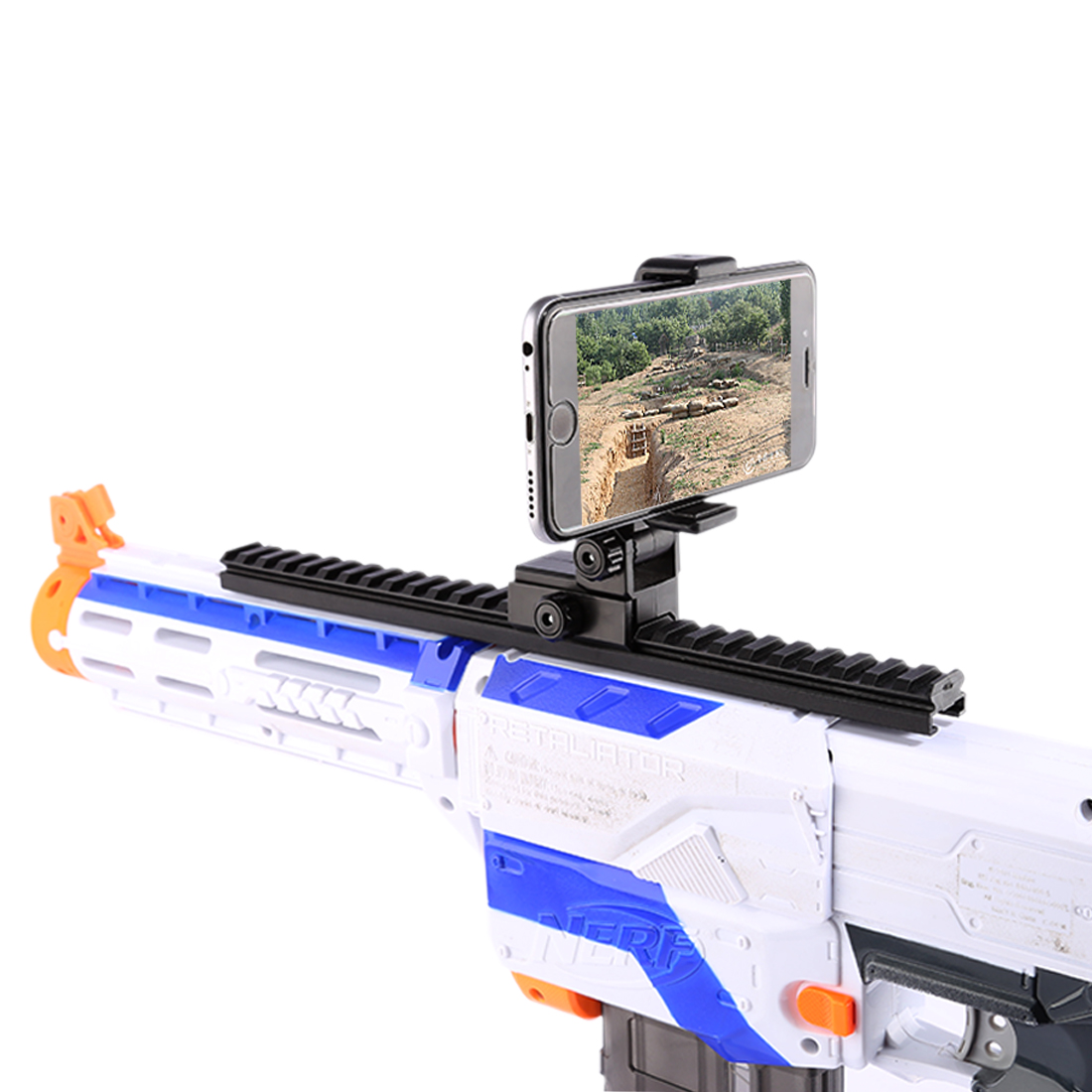 Jinming Tactical Adjustable Video Live Broadcast Phone Holder Cellphone Support Mount for Nerf - Black стоимость