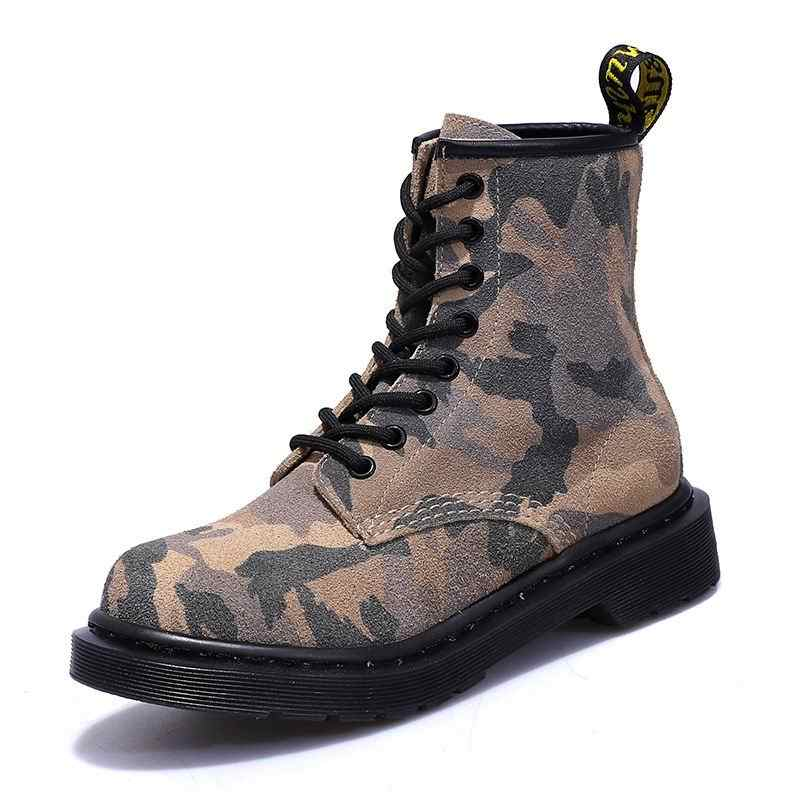 ERRFC New Arrival Womens Purple Martin Boots Fashion Camouflage Ladies  Ankle Boots Woman Suede Motorcycle Boots 69588d735e62