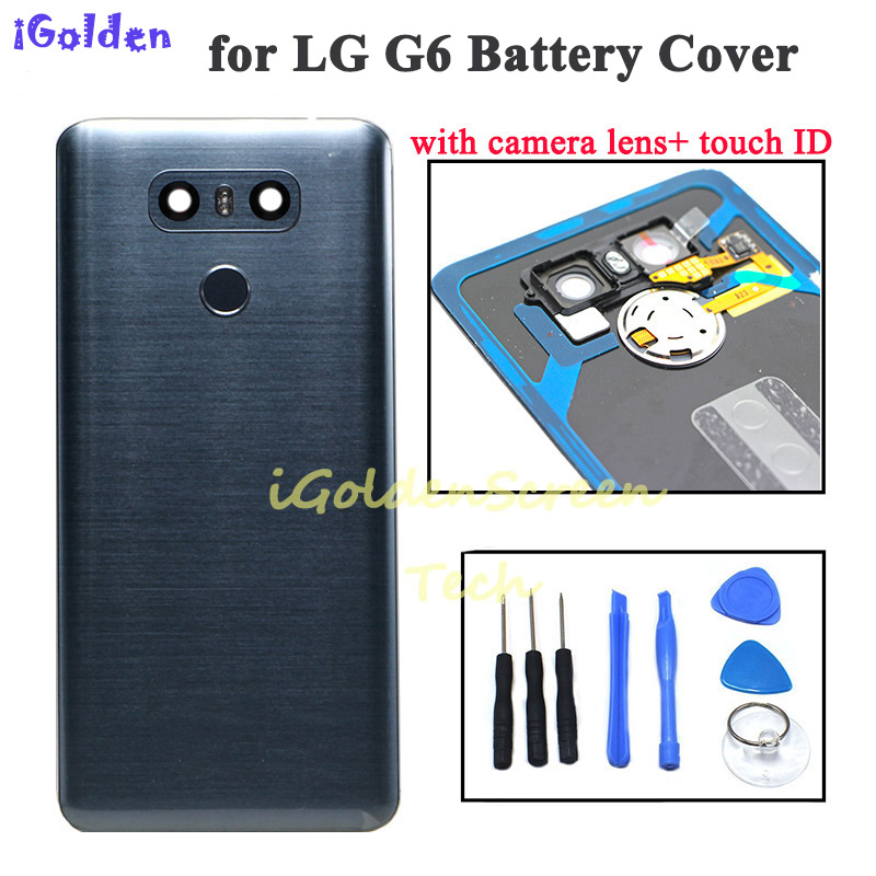 Back Cover For Lg G6 Battery Cover Door Case Housing With Camera Lens Glass Touch ID Replacement For G6 LS993 US997 VS998 H870(China)