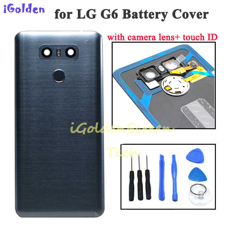 Back Cover for Lg g6 Battery Cover door Case Housing with Camera Lens glass Touch ID Replacement for G6 LS993 US997 VS998 H870