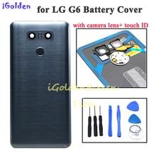Couvercle arrière pour Lg g6 couvercle de batterie boîtier de porte avec lentille de caméra verre tactile ID remplacement pour G6 LS993 US997 VS998 H870